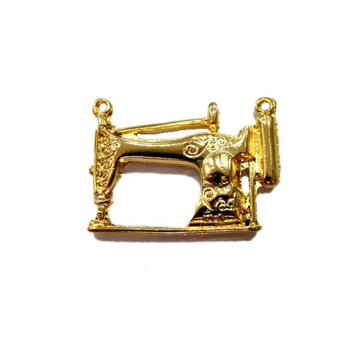 Pingente Máquina de costura dourada- PTD017