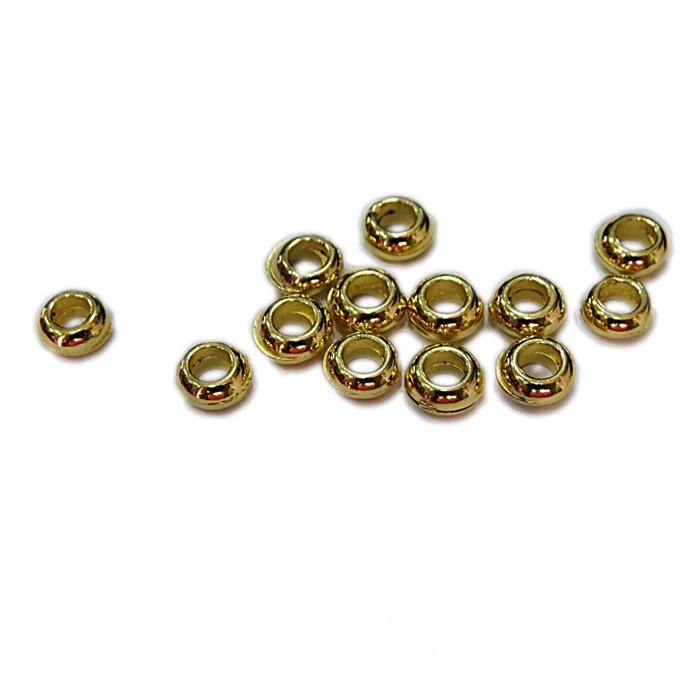 Entremeio dourado Argolinha grossa ( 10 unid.)- ETD002