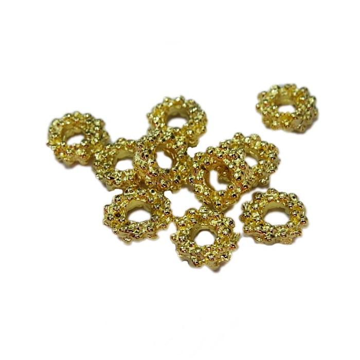 Entremeio dourado florzinha M (10 unid.)- ETD005