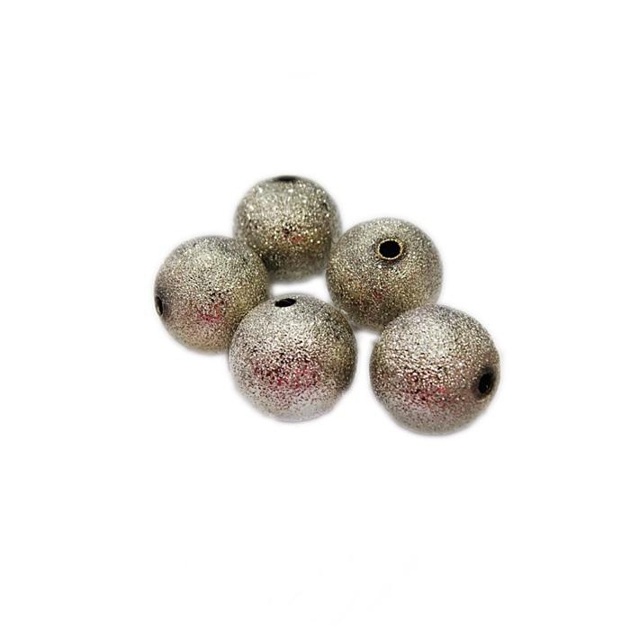 Bolinha níquel Craquelada 12mm (06 unid.)- BCN001