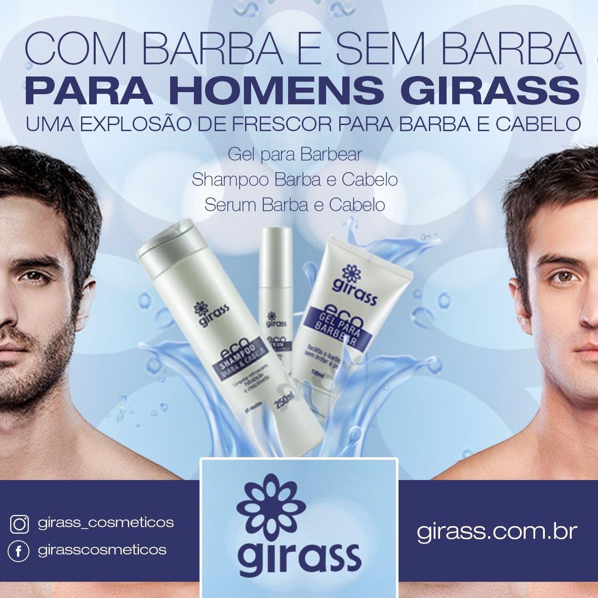 Kit Girass Barba e Cabelo