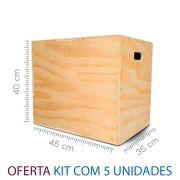 Kit com 5 Caixote Crossfit - 35x40x45