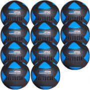 Wall Ball Kit Com 11 Bolas Medicine Ball Couro