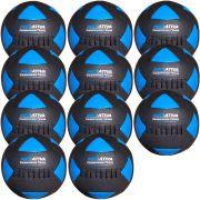 Wall Ball Kit Com 11 Bolas Medicine Ball Couro