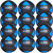 Wall Ball Kit Com 12 Bolas Medicine Ball Couro