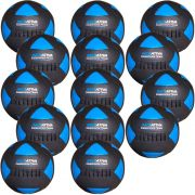 Wall Ball Kit Com 14 Bolas Medicine Ball Couro