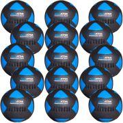 Wall Ball Kit Com 15 Bolas Medicine Ball Couro