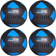 Wall Ball Kit Com 4,6,8, E 10 Kg Medicine Ball Couro