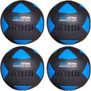 Wall Ball Kit Com 4,6,8, E 10 Kg Medicine Ball Couro