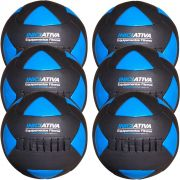 Wall Ball Kit Com 4 kg, 6 kg, 8 kg (2x), 10 kg e 12 Kg Medicine Ball Couro