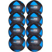 Wall Ball Kit Com 8 Bolas Medicine Ball Couro
