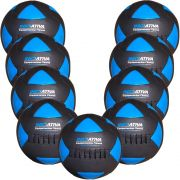 Wall Ball Kit Com 9 Bolas Medicine Ball Couro