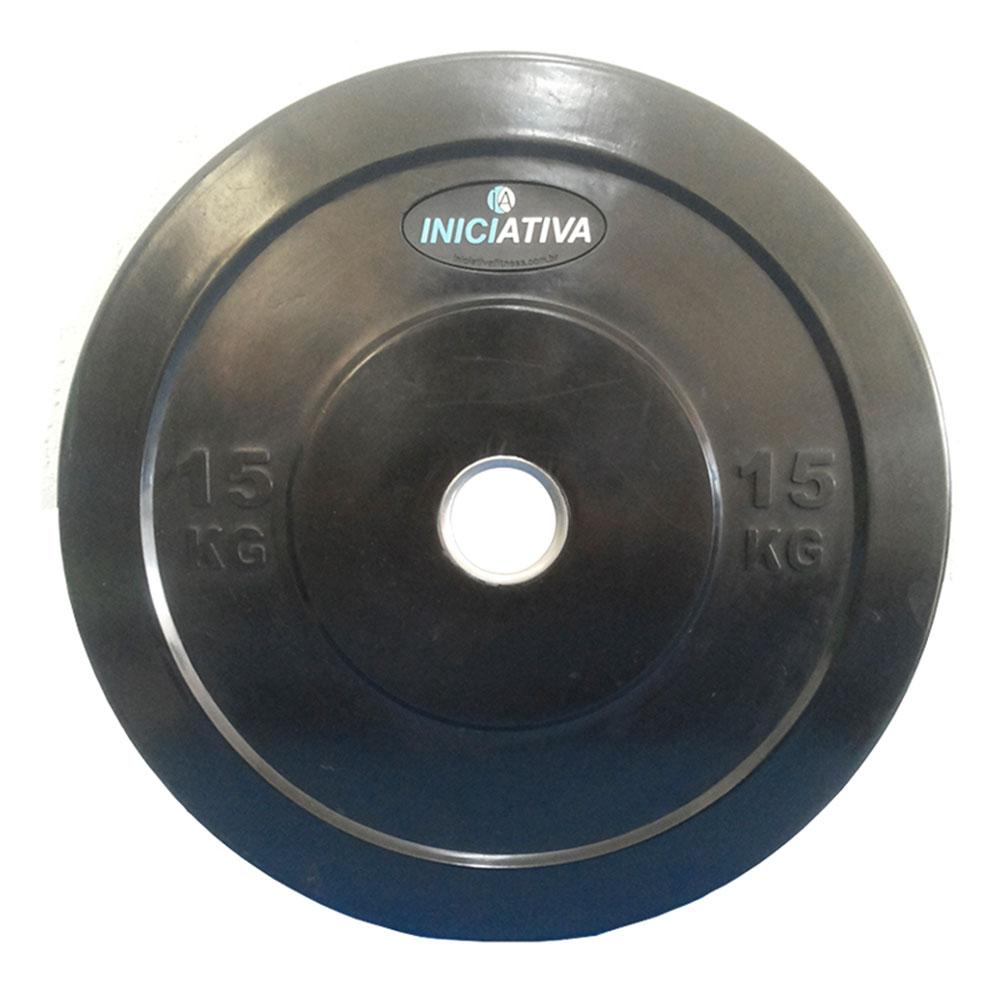 Anilha Olímpica 15kg  - Iniciativa Fitness