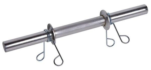 Barra Maciça 30cm com Presilhas  - Iniciativa Fitness