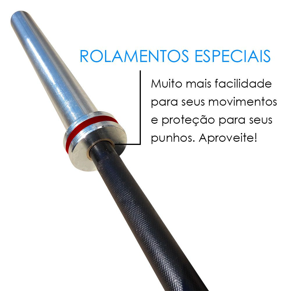 BARRA OLÍMPICA FEMININA 15 KG - LPO / CROSS  - Iniciativa Fitness