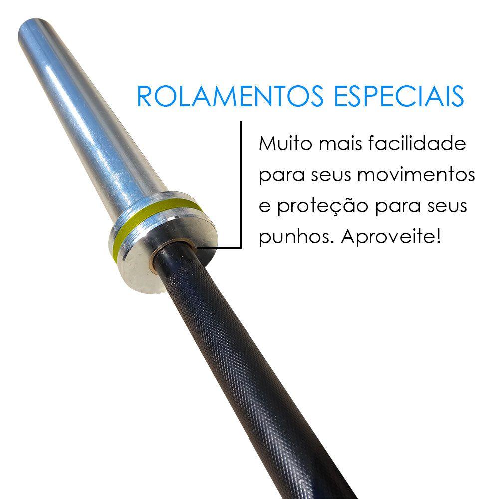 BARRA OLÍMPICA JUNIOR 10 KG - LPO / CROSS  - Iniciativa Fitness