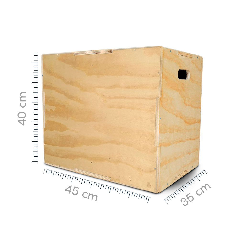 Box Jump - Caixote Crossfit - Caixa de Salto - Plyo Box - 35x40x45  - Iniciativa Fitness