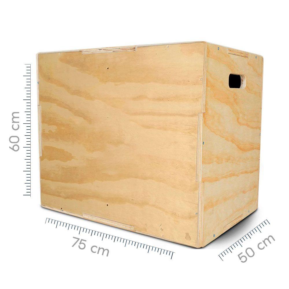 Box Jump - Caixote Crossfit Oficial Grande - Plyo Box - Caixa de Salto 50x60x75  - Iniciativa Fitness
