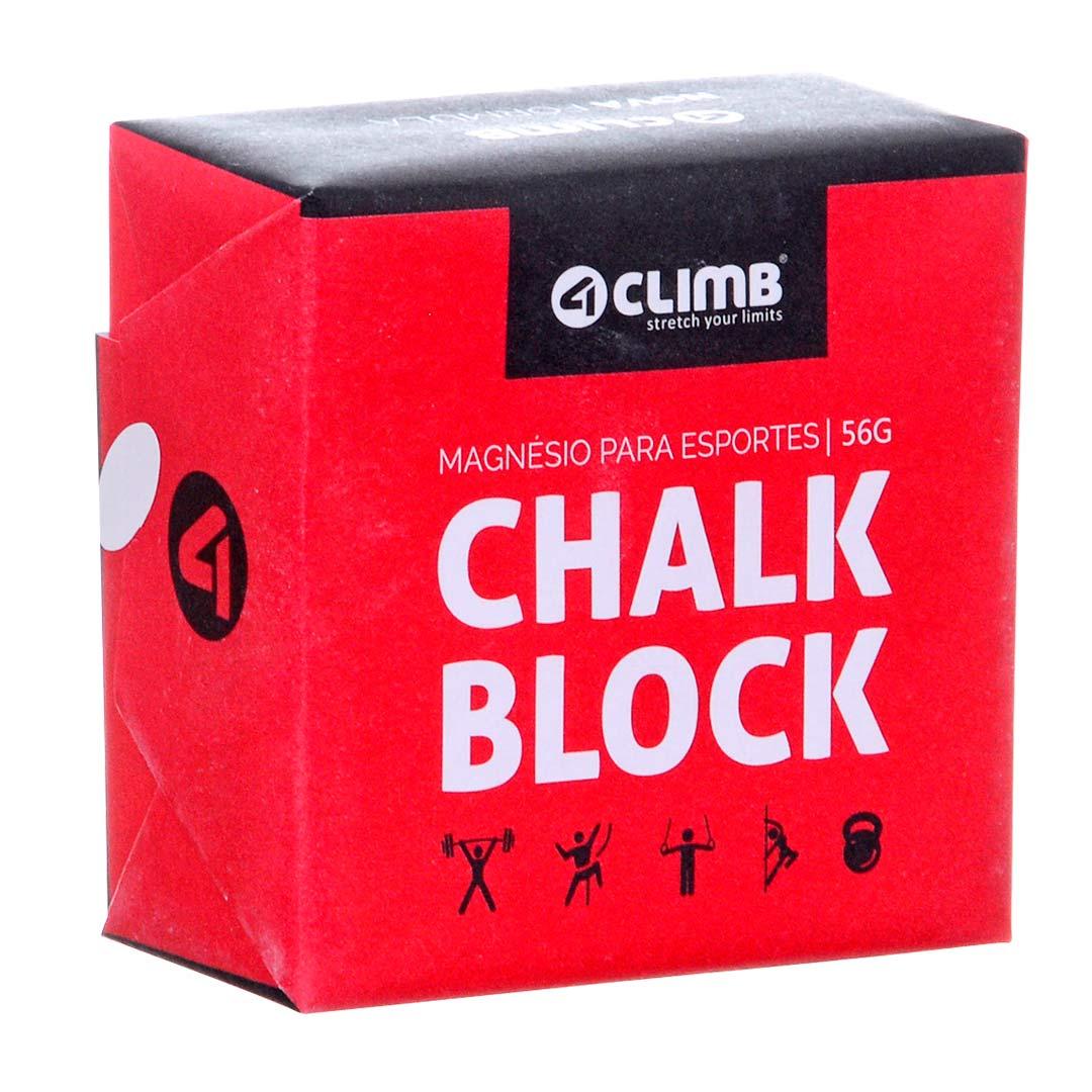 CARBONATO DE MAGNÉSIO CHALK BLOCK 56G 4CLIMB  - Iniciativa Fitness