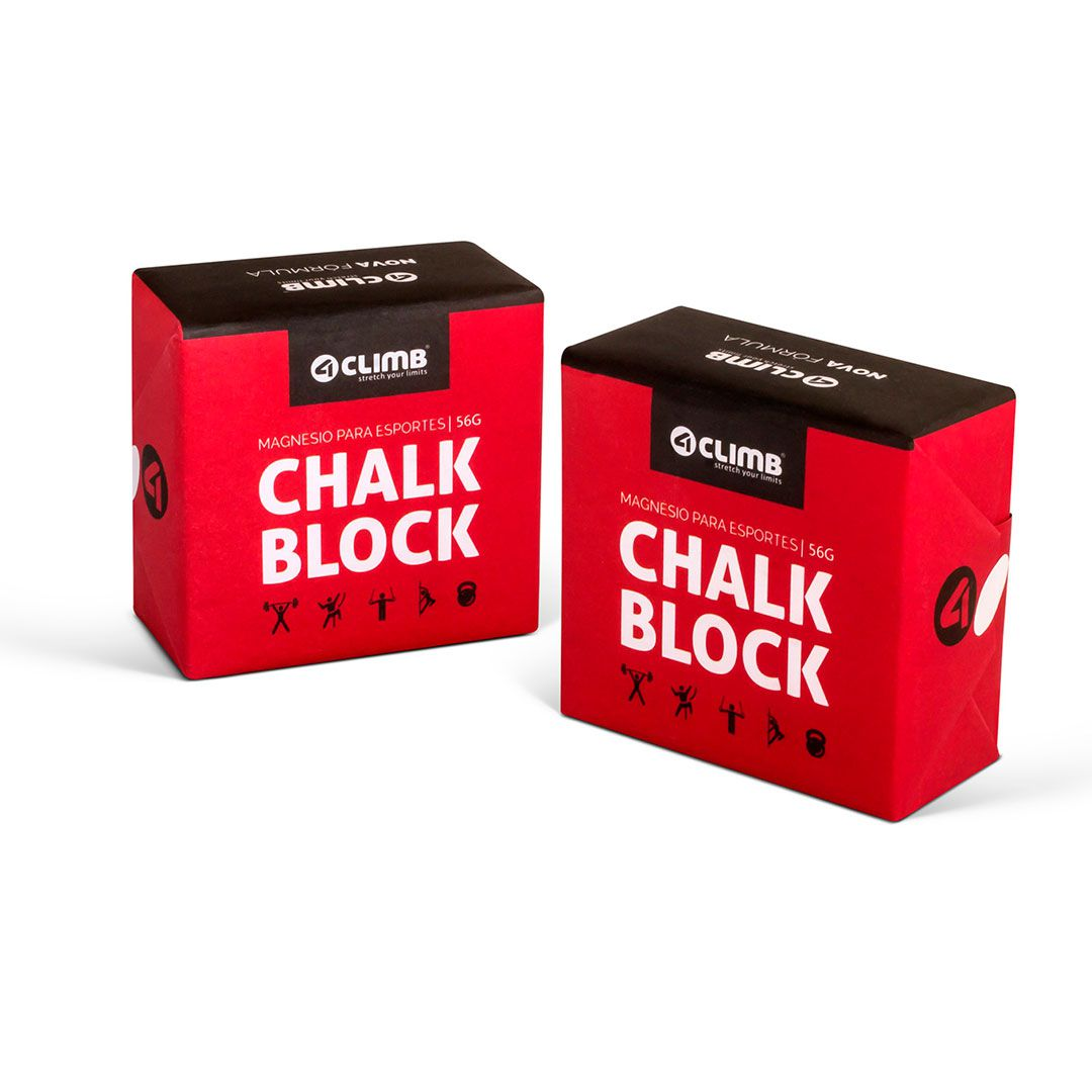 CARBONATO DE MAGNÉSIO CHALK BLOCK 56G 4CLIMB - 2 UNIDADES  - Iniciativa Fitness