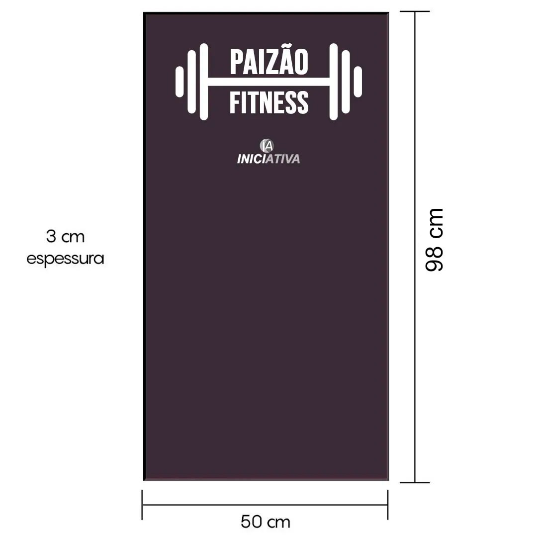 """COLCHONETE """"PAIZÃO FITNESS"""" - INICIATIVA FITNESS - D80 98cm x 50cm x 3cm  - Iniciativa Fitness"""