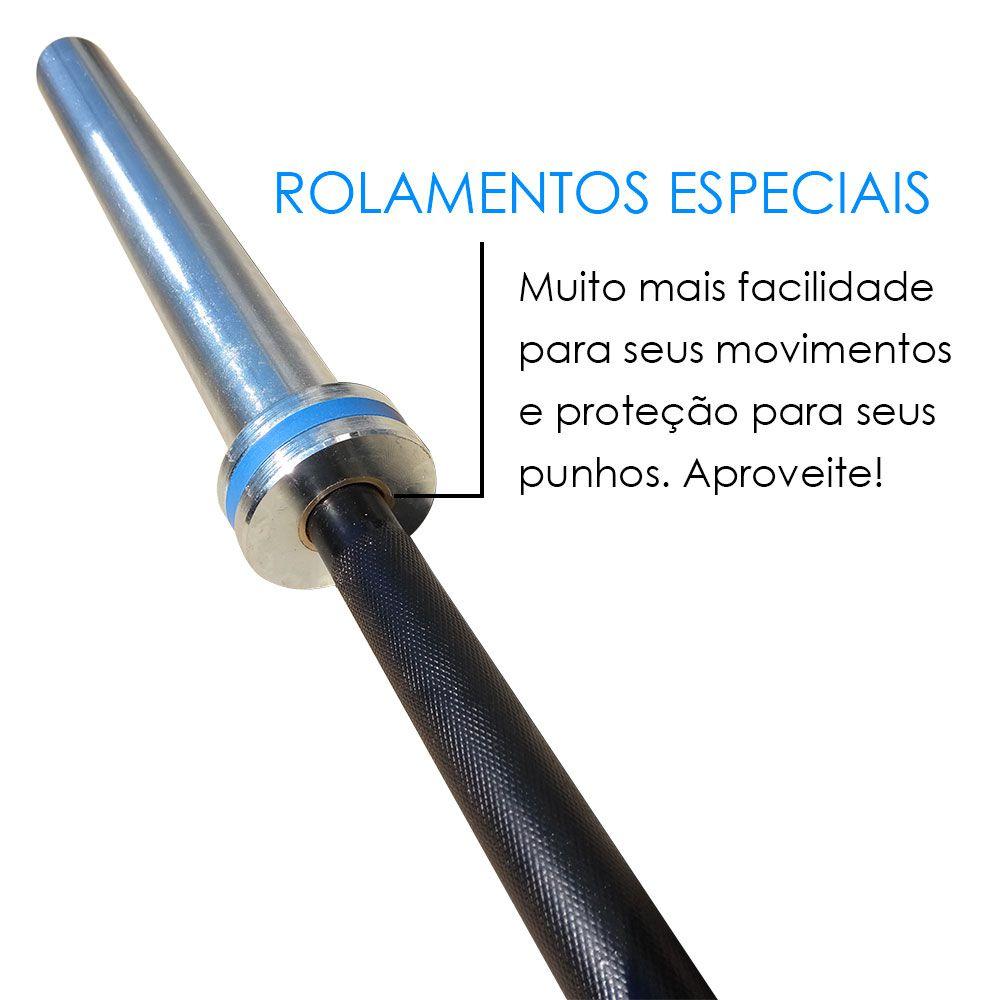 BARRA OLÍMPICA MASCULINA 20 KG - LPO / CROSS  - Iniciativa Fitness