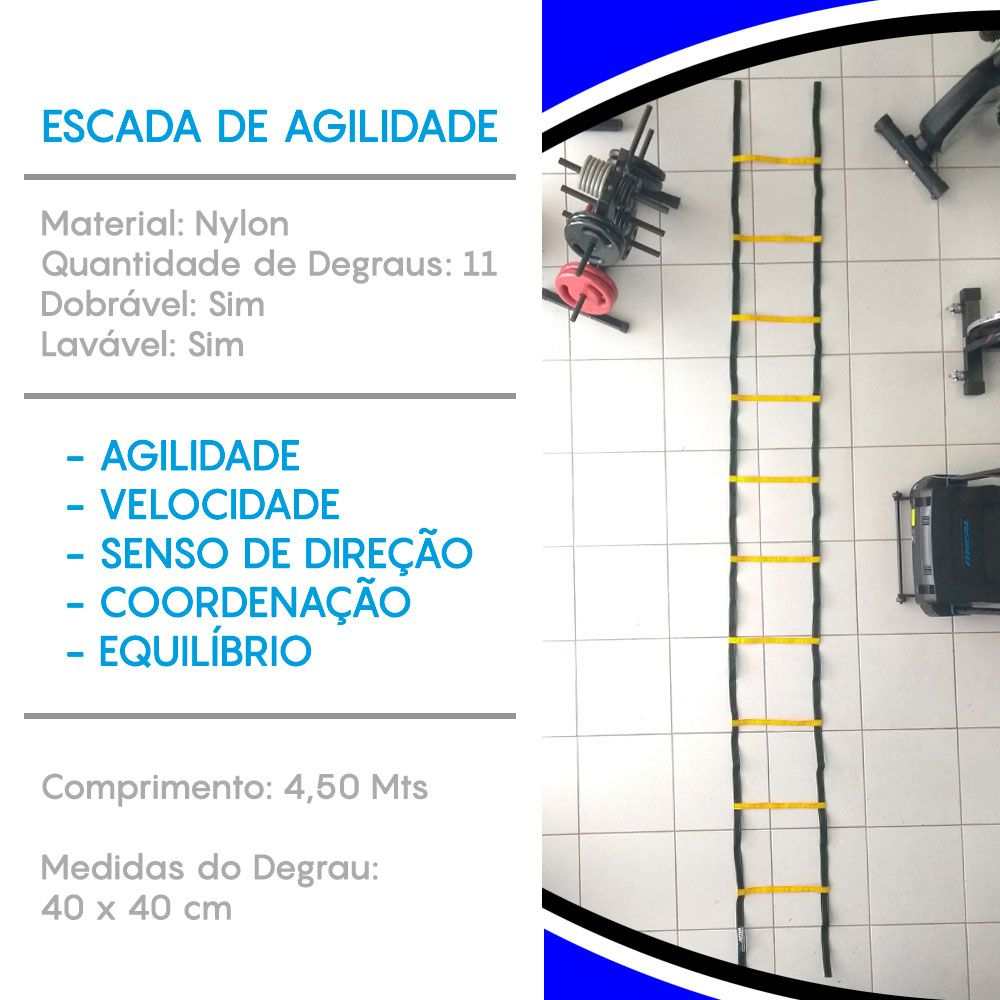 ESCADA DE AGILIDADE INICIATIVA FITNESS 11 DEGRAUS  - Iniciativa Fitness