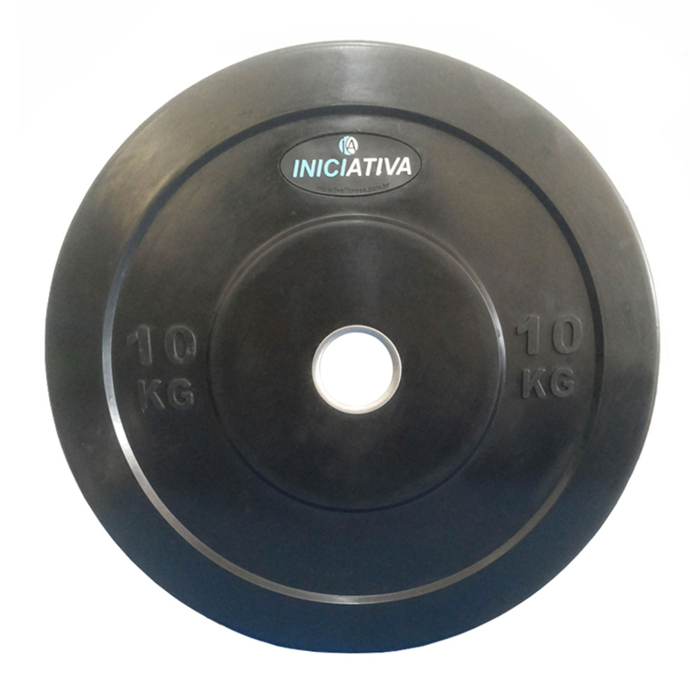 Anilhas Olimpicas Kit Com 100kg  - Iniciativa Fitness