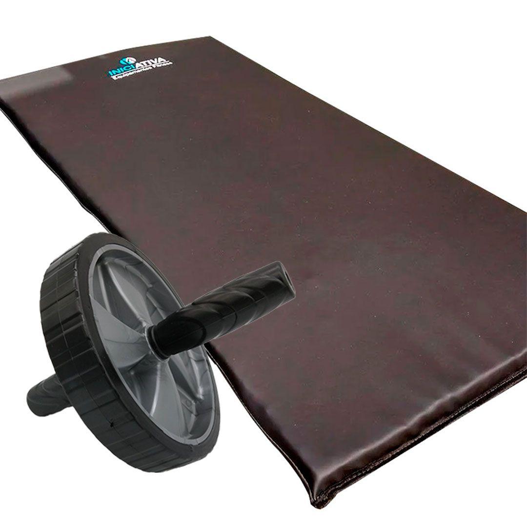 KIT COLCHONETE PROFISSIONAL + RODA ABDOMINAL  - Iniciativa Fitness