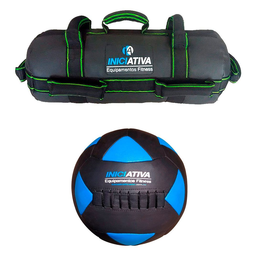 KIT DE WALL BALL + POWER BAG - ESCOLHA SEU PESO  - Iniciativa Fitness
