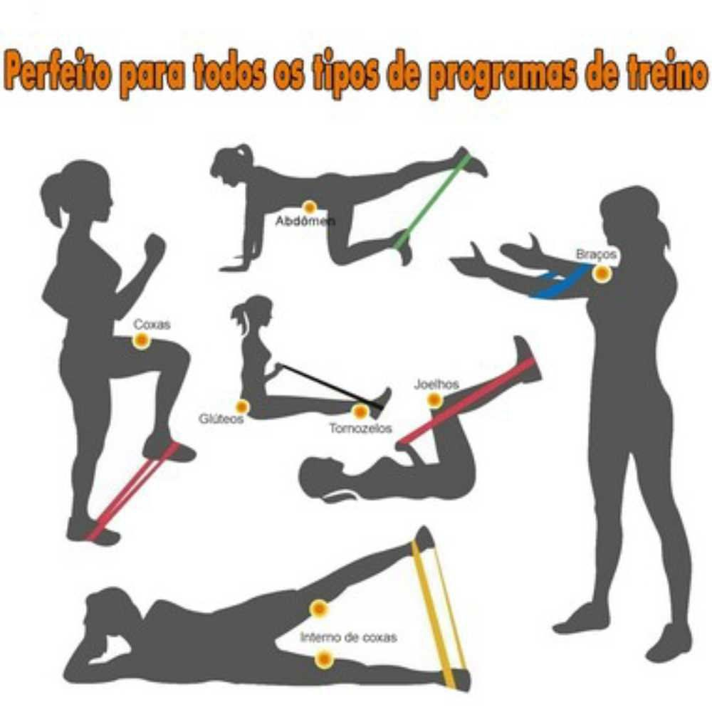 KIT MINI BAND ACTE COM 3 INTENSIDADES  - Iniciativa Fitness
