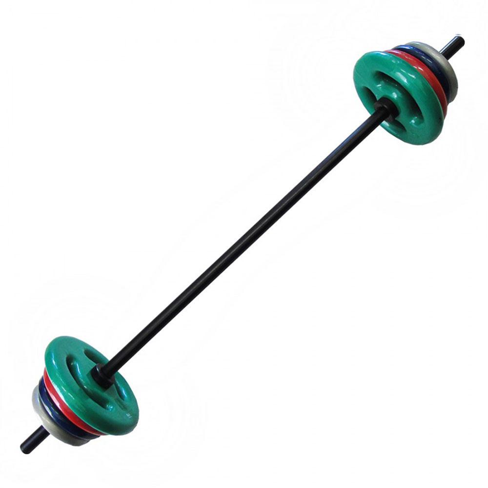 Kit para Body Pump com 22kg Anilhas Emborrachadas  - Iniciativa Fitness