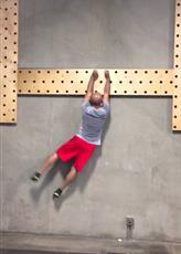 Peg Board 35 Furos 240 Cm X 30 Cm X 4 Cm  - Iniciativa Fitness