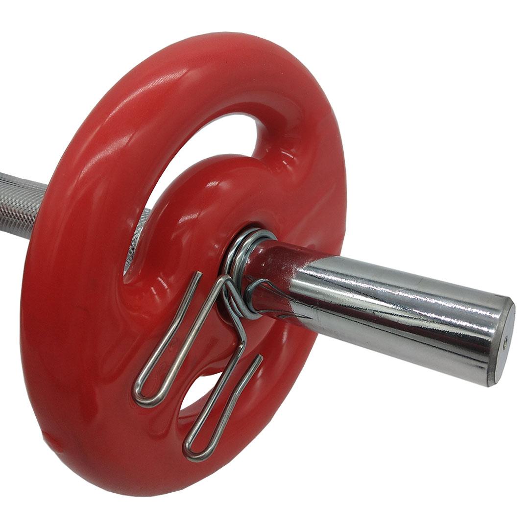 """PRESILHA ESPIRAL P/ BARRA DE MUSCULAÇÃO INICIATIVA FITNESS 1.1/8"""" - PAR  - Iniciativa Fitness"""