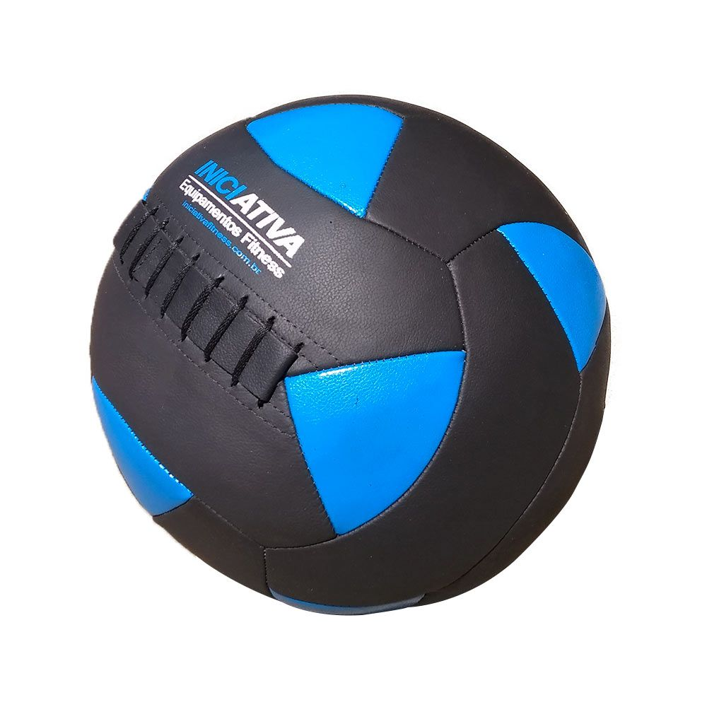 Wall Ball Kit Com 10 Bolas Medicine Ball Couro - Iniciativa Fitness