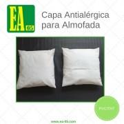 Capa antialérgica para almofada - 45x45 - Impermeável - PVC/TNT