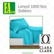 Lençol 1800 fios - Conjunto Premium Clara Clark - Solteiro/TWIN - Beach Blue