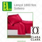 Lençol 1800 fios - Conjunto Premium Clara Clark - Solteiro/TWIN - Hot Pink