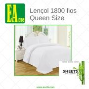 Lençol 1800 fios - Premium Bamboo Collection - Queen Size - Branco Neve