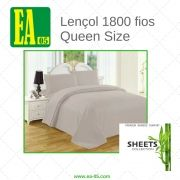 Lençol 1800 fios - Premium Bamboo Collection - Queen Size - Cinza