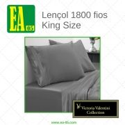 Lençol 1800 fios - Victoria Valentini Collection - King Size - Cinza