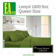 Lençol 1800 fios - Victoria Valentini Collection - Queen Size - Verde