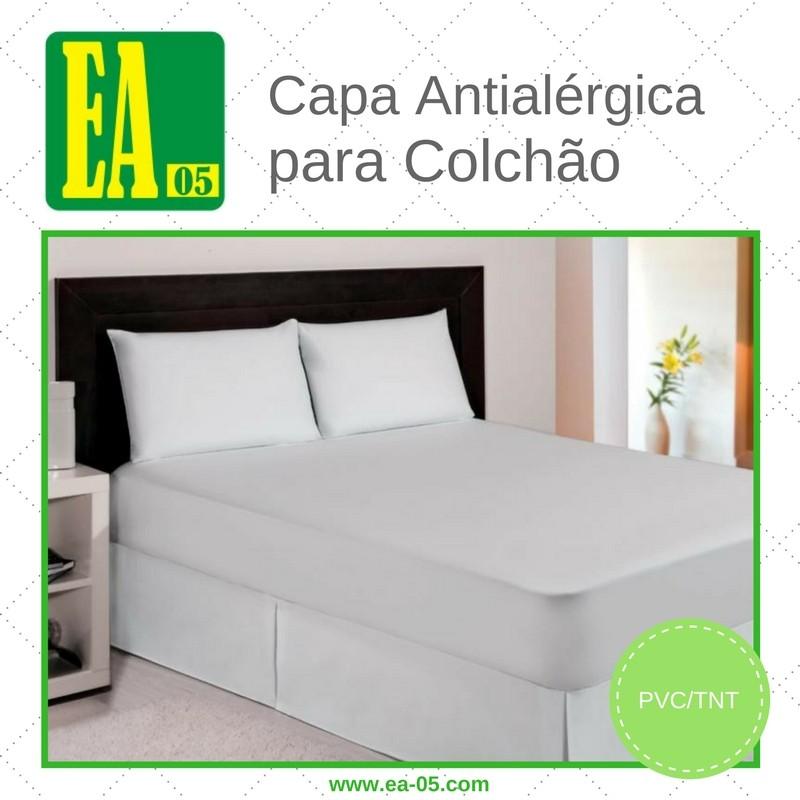 Capa antialérgica para colchão - impermeável - Berço Brasileiro - PVC/TNT - 70x130x10 cm - com ziper  - Espaço do Alérgico