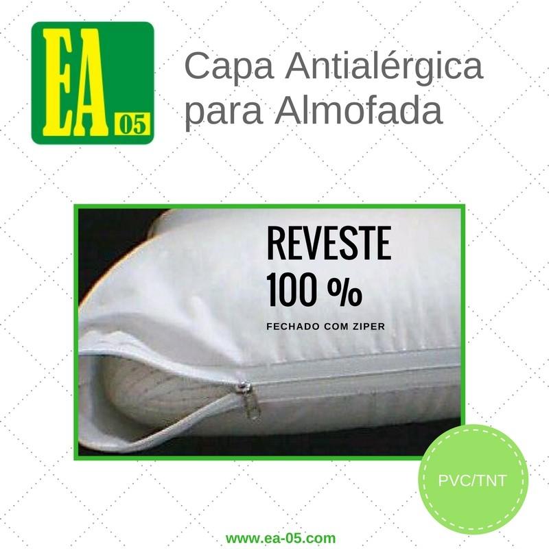 Capa antialérgica para almofada - 60x60 - Impermeável - PVC/TNT  - Espaço do Alérgico