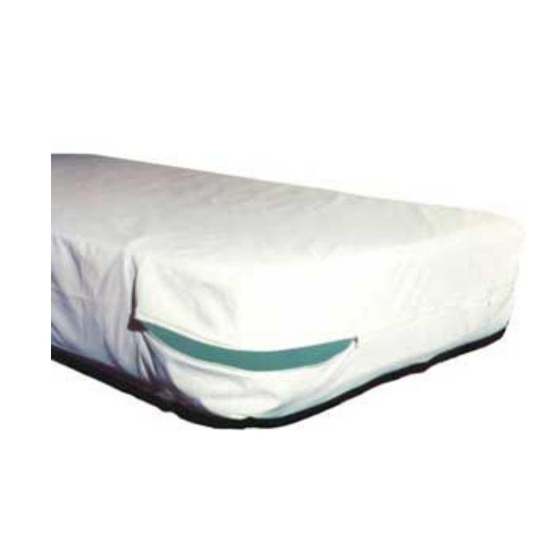 Capa antialérgica para colchão - impermeável - King - PVC/TNT - 198x203x35 cm - com zíper  - Espaço do Alérgico