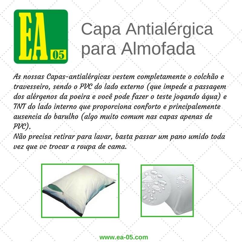 Capa antialérgica para almofada - 50x50 - Impermeável - PVC/TNT  - Espaço do Alérgico
