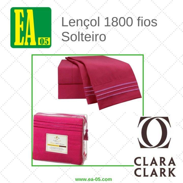 Lençol 1800 fios - Conjunto Premium Clara Clark - Solteiro/TWIN - Hot Pink  - Espaço do Alérgico