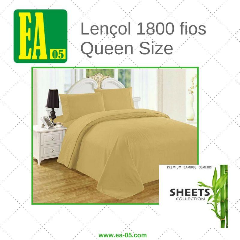 Lençol 1800 fios - Premium Bamboo Collection - Queen Size - Amarelo