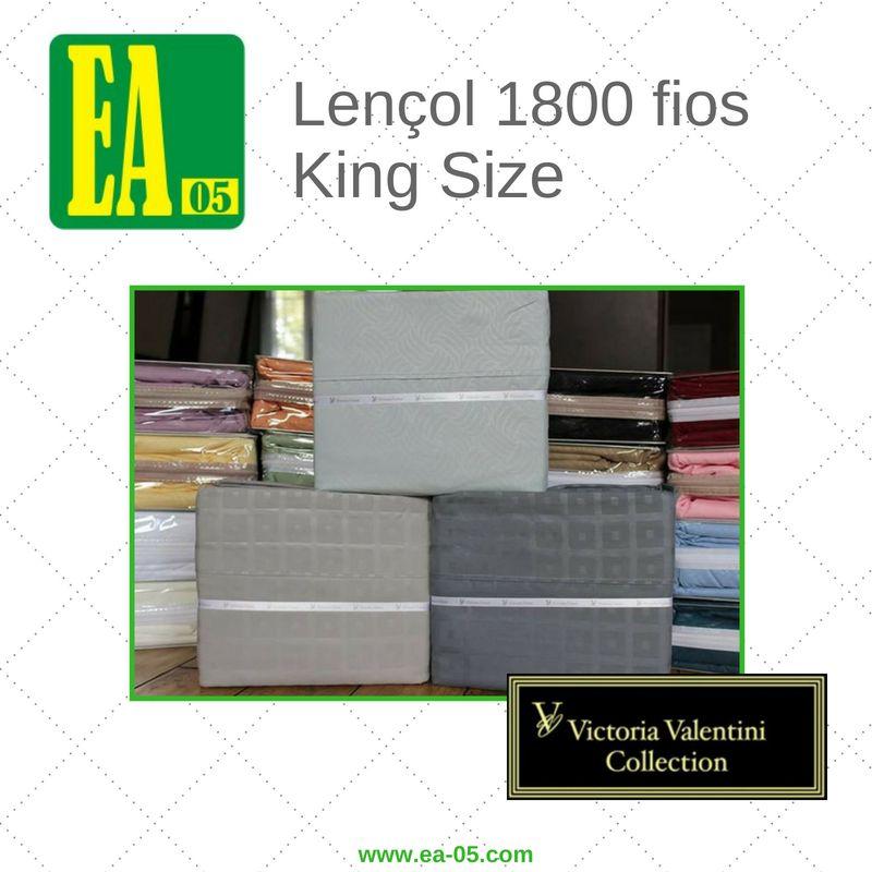 Lençol 1800 fios - Victoria Valentini Collection - King Size - Cinza  - Espaço do Alérgico