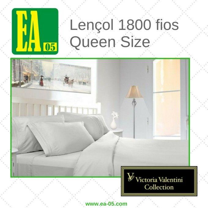 Lençol 1800 fios - Victoria Valentini Collection - Queen Size - Branco  - Espaço do Alérgico